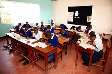 Klassenraum in St. Vincent