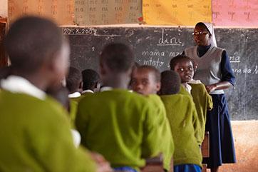 Unterricht in Mpepo mit Sr. XX