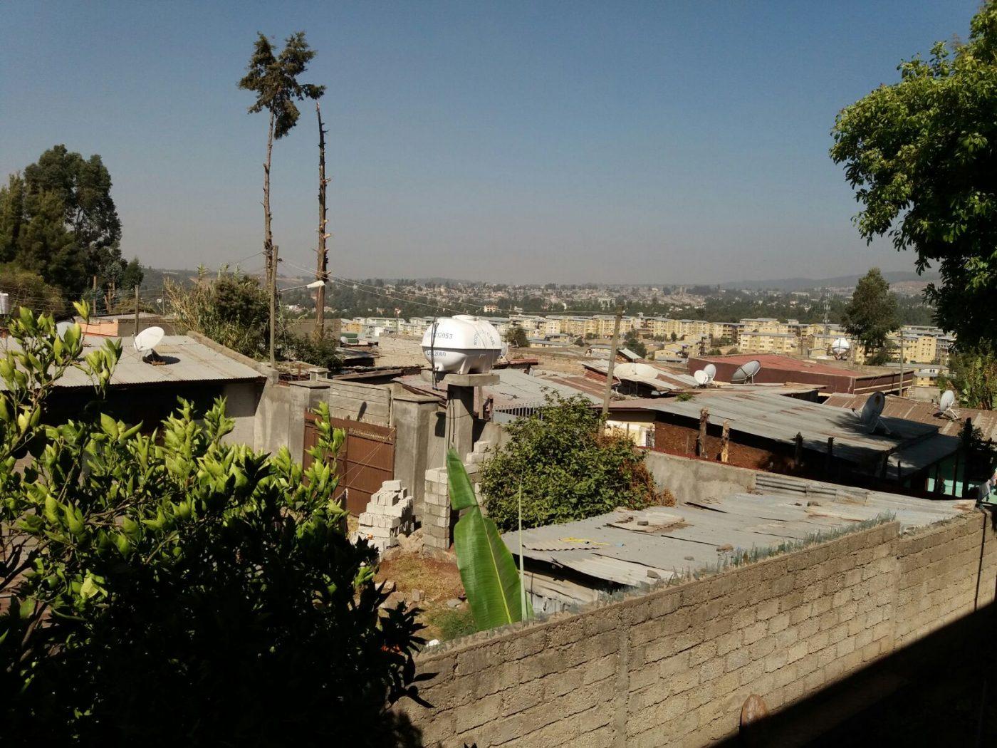 Blick über Addis Abeba