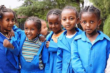 Erziehung und Ernährung in der Diözese Nekemte (Äthiopien)